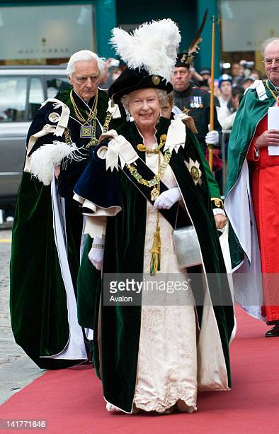 HM Queen Elizabeth II attends the traditional Mass for the Order of the Thistle Edinburgh Scotland July 2nd 2008