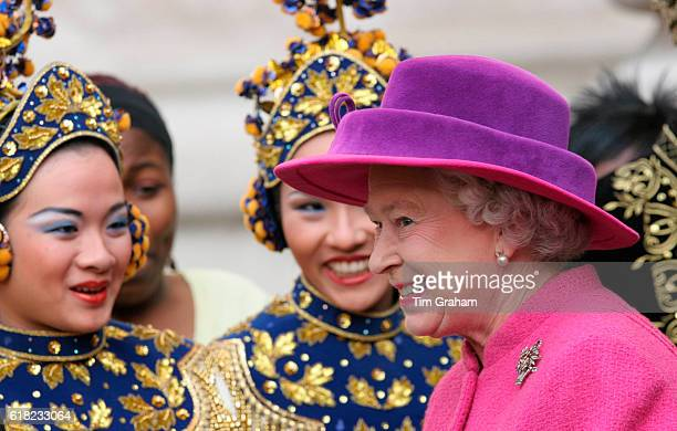 Queen Elizabeth II attends Westminster Abbey for the Commonwealth Observance Service