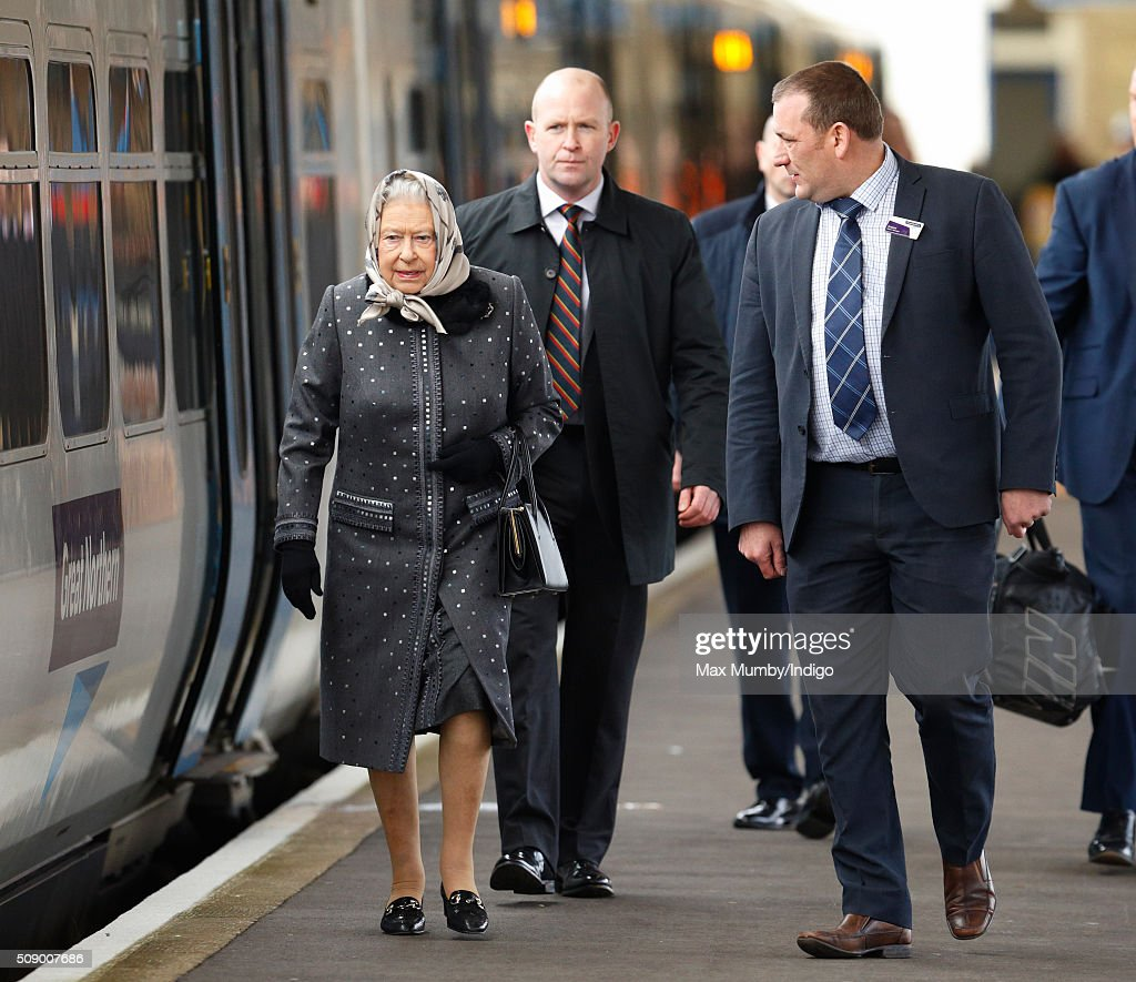 The Queen Returns To London After Her Christmas Break At Sandringham : News Photo