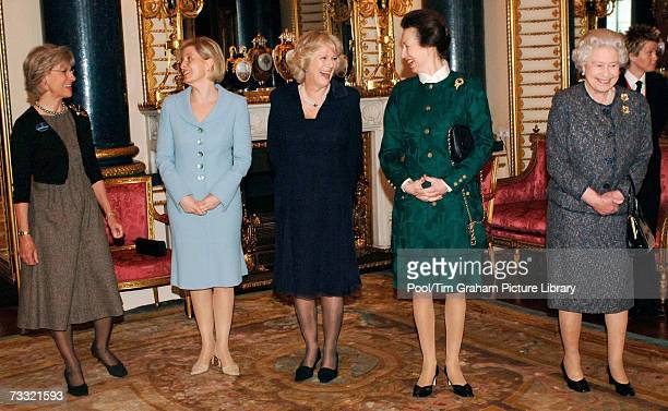 Queen Elizabeth II Camilla Duchess of Cornwall Sophie Countess of Wessex Princess Anne Princess Royal and the Duchess of Gloucester attend a Women in...