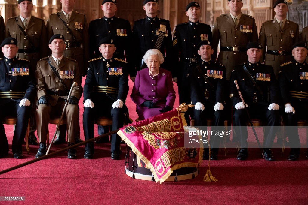 The Queen Presents New Standard To Royal Tank Regiment