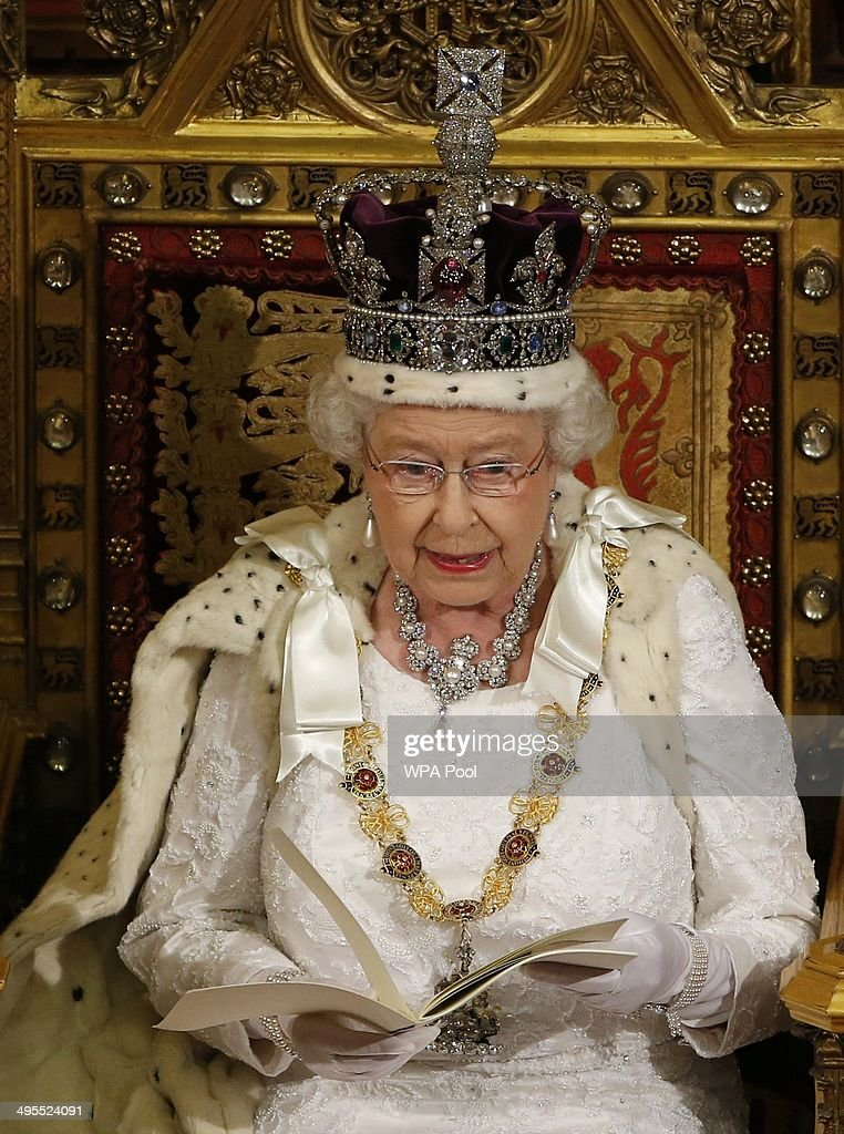 Queen Elizabeth II Attends The State Opening Of Parliament : News Photo