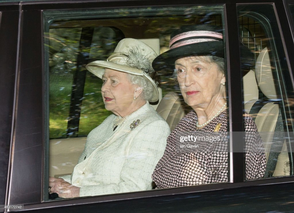 Queen Elizabeth II departs after attending a service of commemoration at Crathie Kirk Church on August 4, 2014 in Crathie, Aberdeenshire, Scotland. Monday 4th August marks the 100th anniversary of Great Britain declaring war on Germany. In 1914 British Prime Minister Herbert Asquith announced at 11 pm that Britain was to enter the war after Germany had violated Belgium neutrality. The First World War or the Great War lasted until 11 November 1918 and is recognised as one of the deadliest historical conflicts with millions of causalities. A series of events commemorating the 100th anniversary are taking place throughout the day.