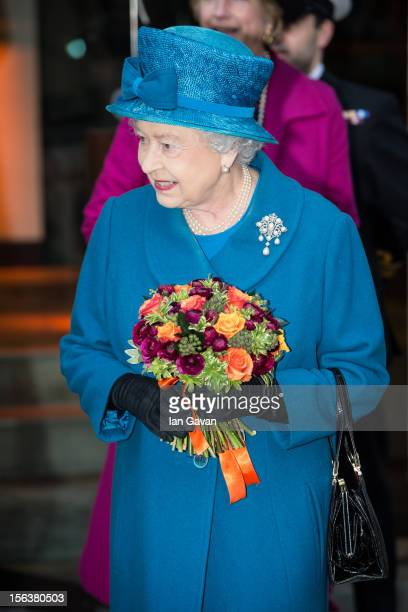 Queen Elizabeth II departs after her visit to the Royal Commonwealth Society on November 14 2012 in London England