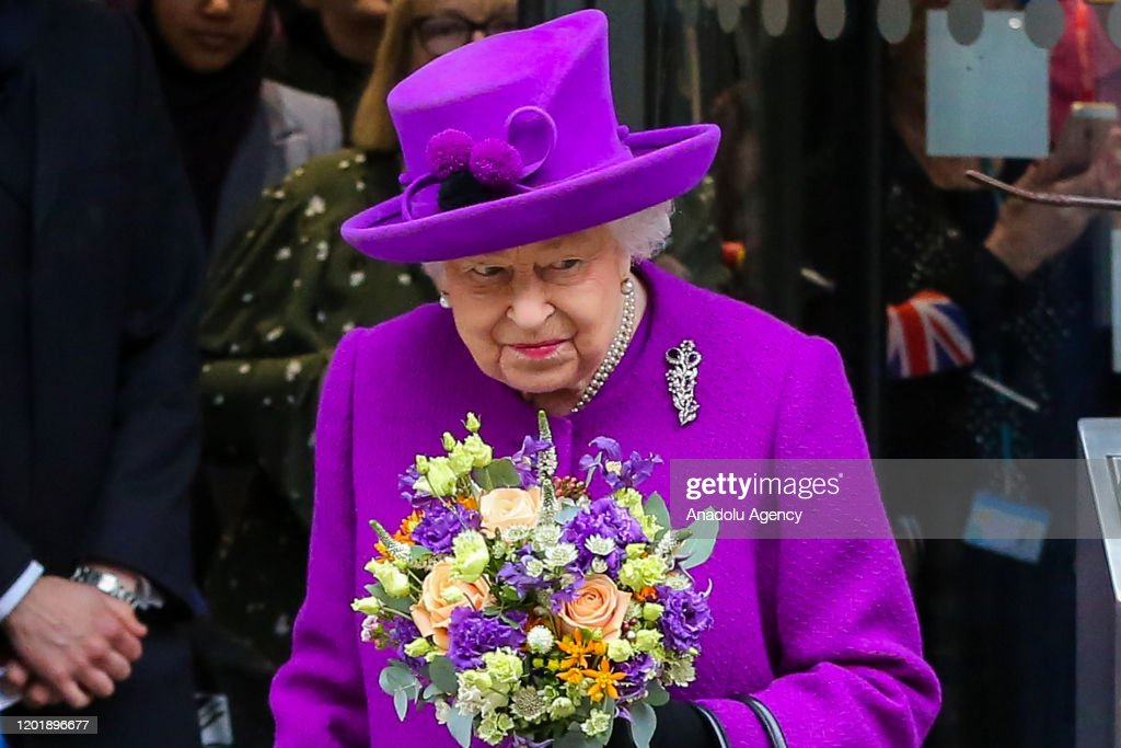 Queen Elizabeth II attends opening of the new Royal National ENT and Eastman Hospitals : News Photo