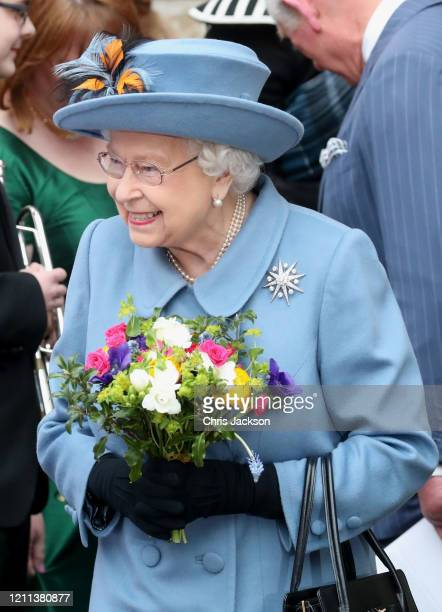 Queen Elizabeth II departs the Commonwealth Day Service 2020 at Westminster Abbey on March 09 2020 in London England The Commonwealth represents 24...