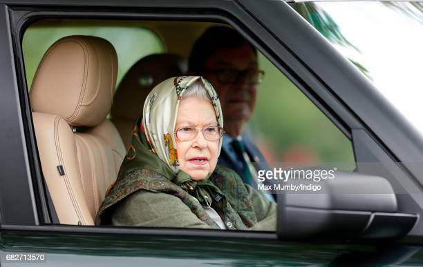 Queen Elizabeth II Drives Her Range Rover Car As She Attends Day 4 Of The Royal