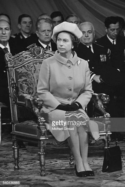 Queen Elizabeth II during a state visit to France May 1972