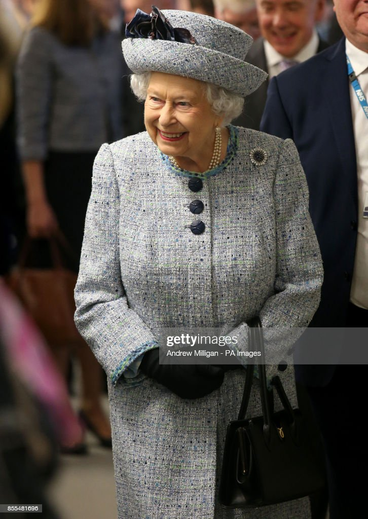 Queen Elizabeth II during a visit to Aberdeen Royal Infirmary to open the Robertson Family Roof Garden and meet patients and staff.