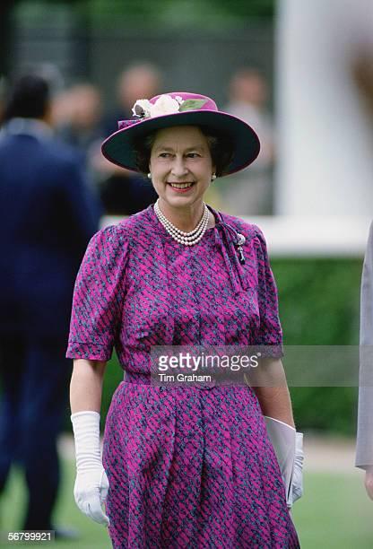 Queen Elizabeth II during a visit to Hong Kong