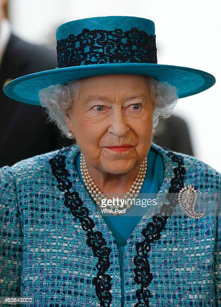 Queen Elizabeth II during a visit to reopen Canada House on Trafalgar Square following an extensive programme of restoration and refurbishment on...