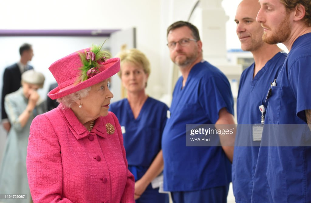 Queen Elizabeth II visit to Cambridge : News Photo