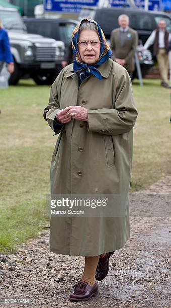 Queen Elizabeth II during a walk about on the third day of the Royal Windsor Horse Show on May 15, 2009 in Windsor, England.