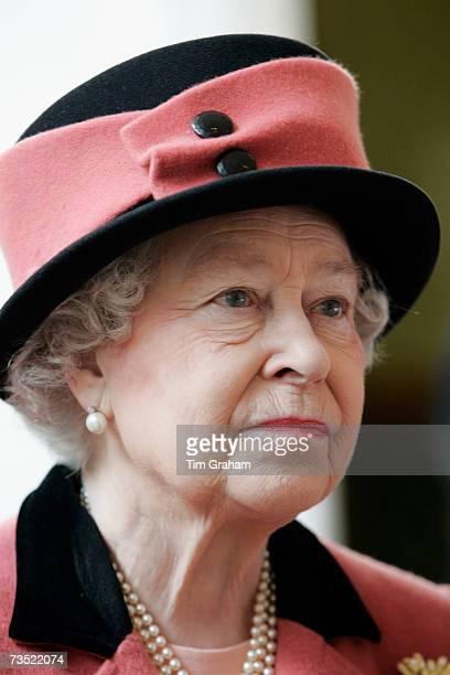 Queen Elizabeth II during a walkabout in Brighton on March 8, 2007 in Brighton, England.