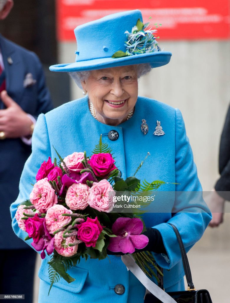 The Queen & Prince Of Wales Visit The Household Cavalry Mounted Regiment : News Photo