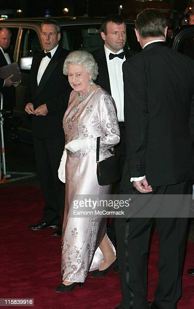 Queen Elizabeth II during Casino Royale World Premiere Outside Arrivals at Odeon Leicester Square in London Great Britain
