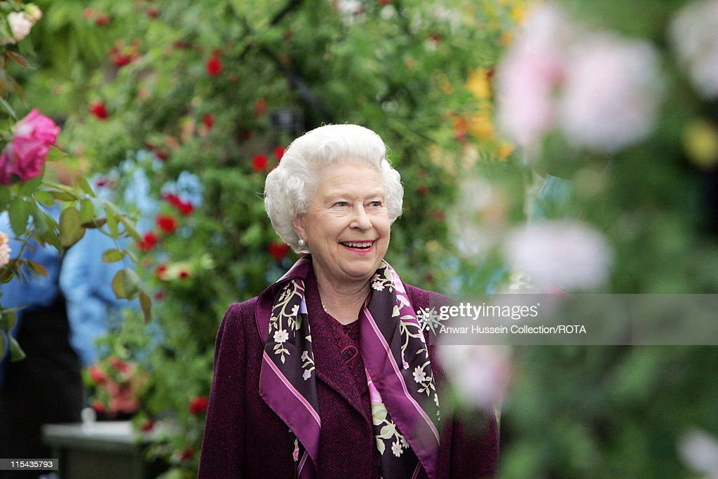 Queen Elizabeth II during Chelsea Flower Show - Preview Day in London, Great Britain.