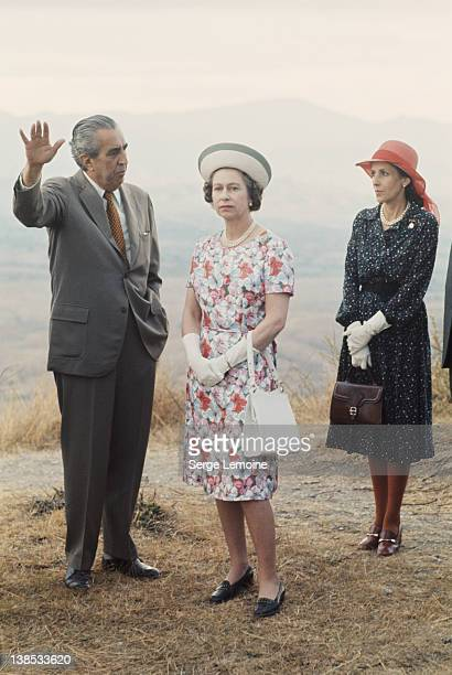 Queen Elizabeth II during her state visit to Mexico 1975