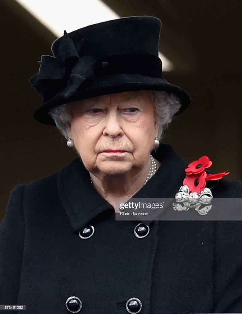 The Royal Family Lay Wreaths At The Cenotaph On Remembrance Sunday : Nieuwsfoto's