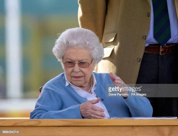 Queen Elizabeth II during the Royal Windsor Horse Show at Windsor Castle Berkshire