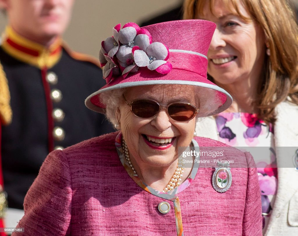 Queen Elizabeth II during the Royal Windsor Horse Show at Windsor Castle, Berkshire.