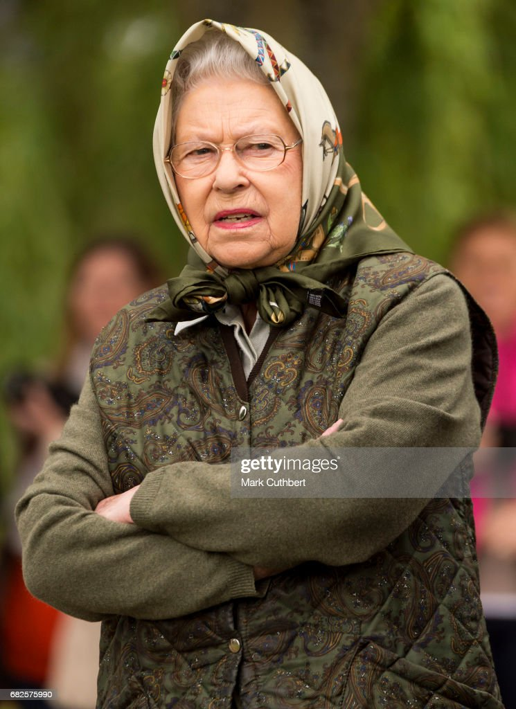 Queen Elizabeth II during the Windsor Horse Show on May 13, 2017 in Windsor, England.