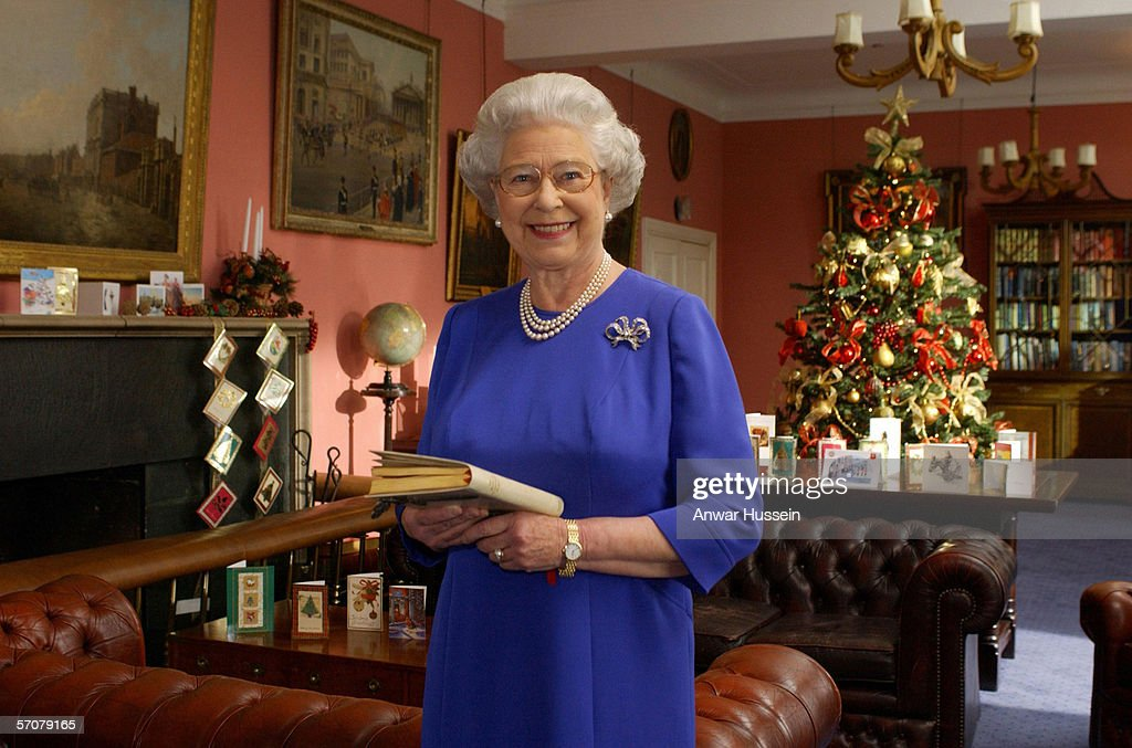GBR: Queen Elizabeth II films her traditional Christmas broadcast : News Photo