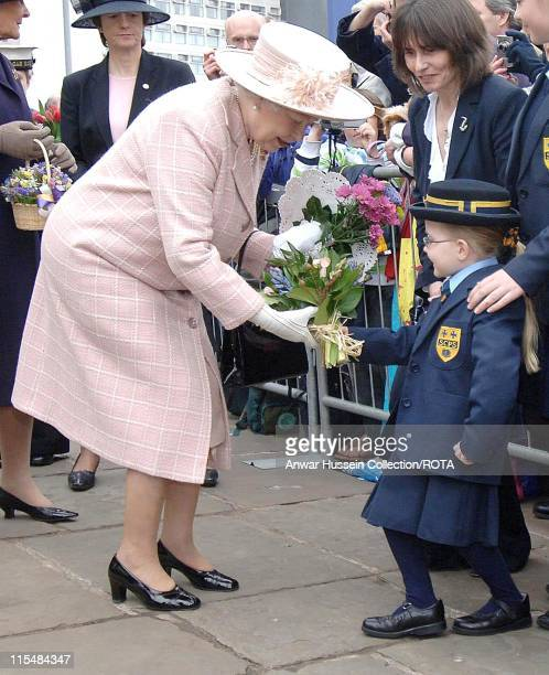 HM Queen Elizabeth II following the traditional Royal Maundy Service April 5 held at Manchester Cathedral