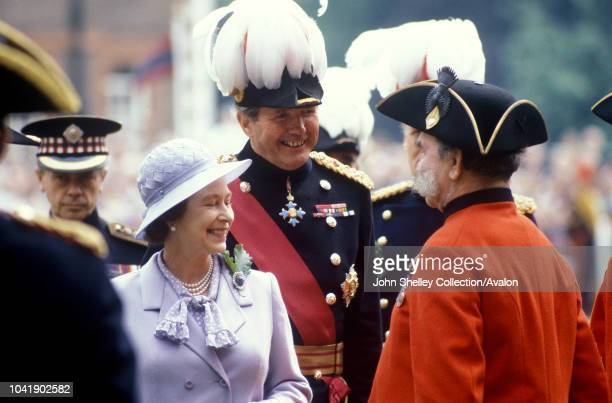 Queen Elizabeth II Founders Day Chelsea Royal Hospital Major General Robert Ford 10th June 1982