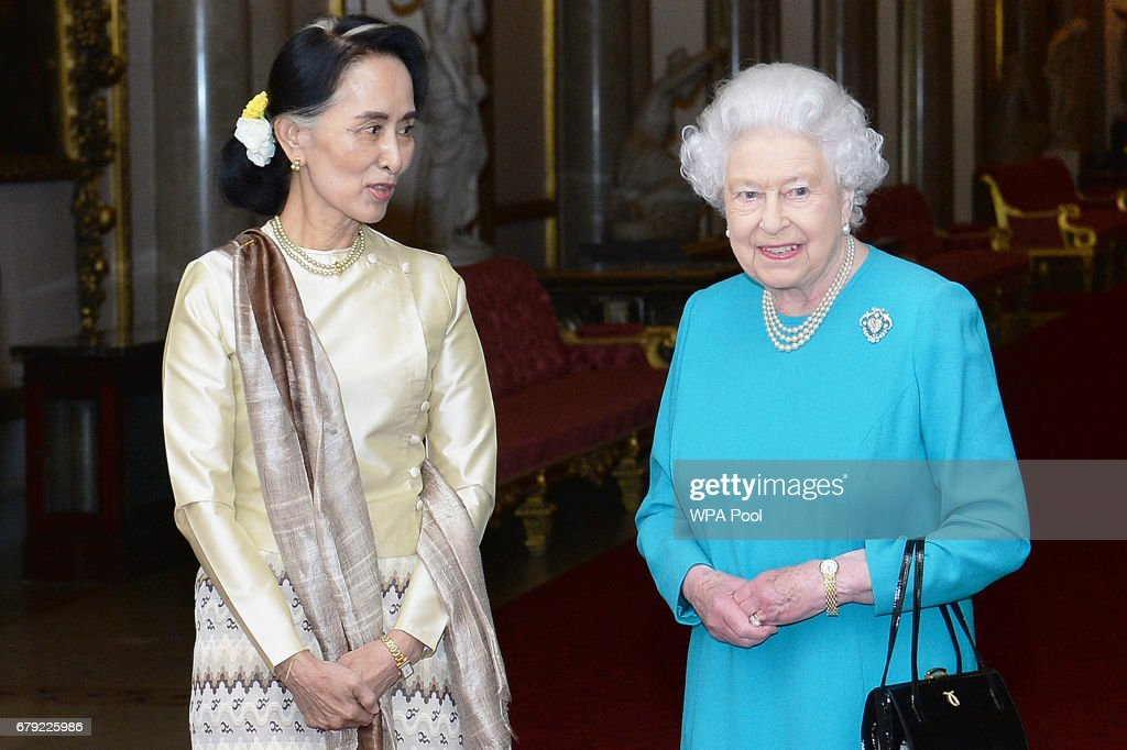 Aung San Suu Kyi Meets British Royals