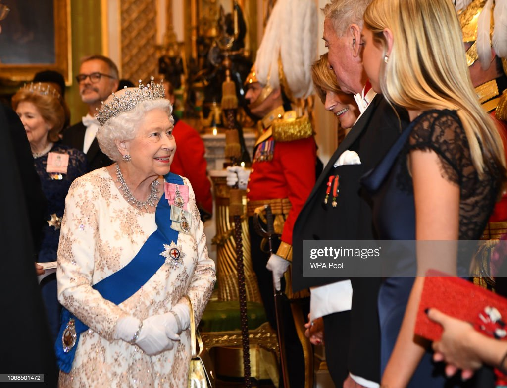 The Duke & Duchess Of Cambridge Attend Evening Reception For Members of the Diplomatic Corps : Nachrichtenfoto