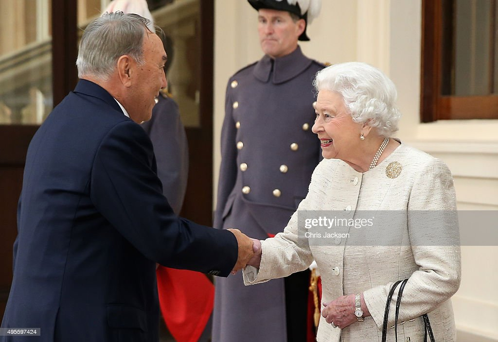 The Queen Receives The President Of Kazakhstan : News Photo