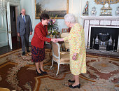 london england queen elizabeth ii greets