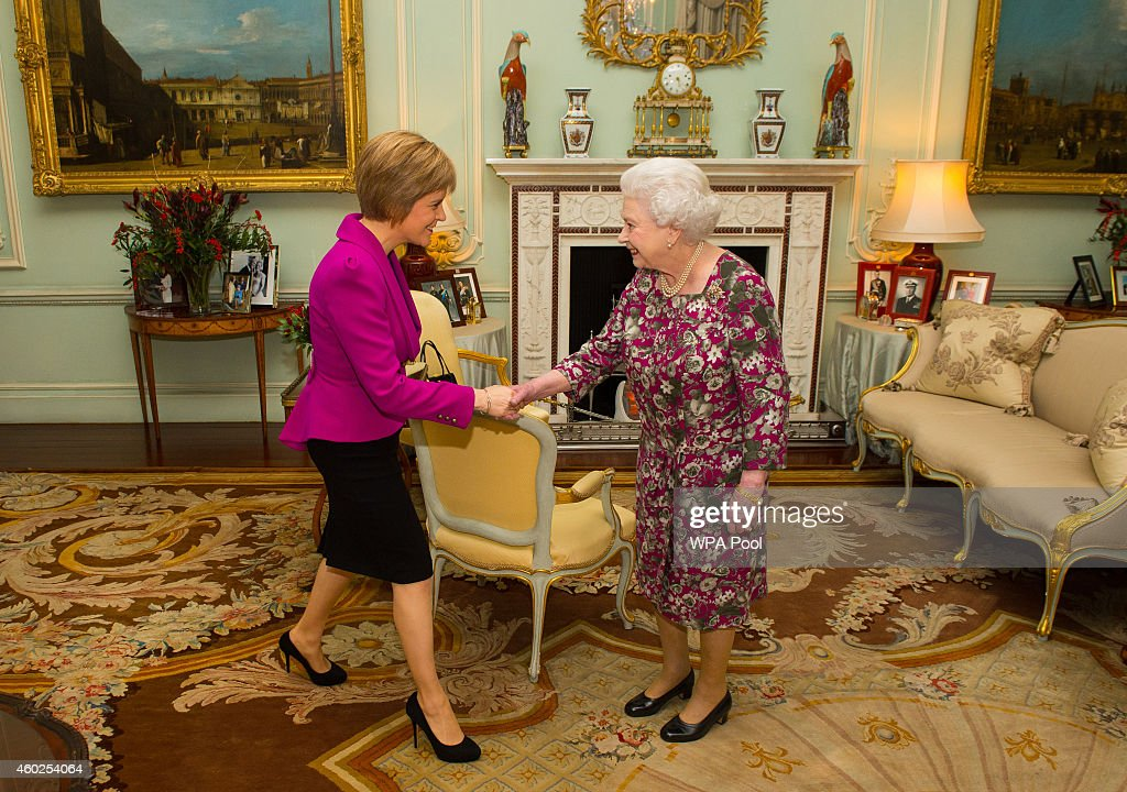 Scotland's New First Minister Nicola Sturgeon Attends First Audience With The Queen : News Photo