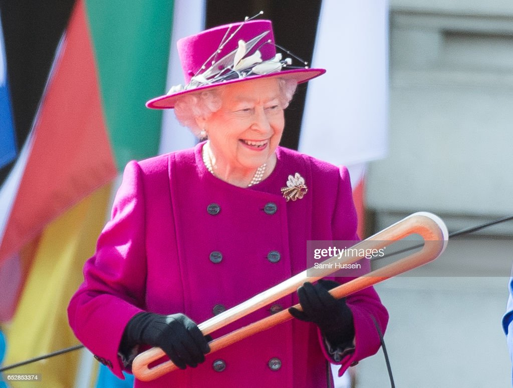 The Queen's Baton Relay For The XXI Commonwealth Games Launch : News Photo