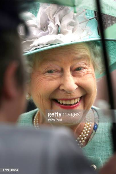 Queen Elizabeth II hosts a garden party at the Palace of Holyrood house on July 2 2013 in Edinburgh Scotland