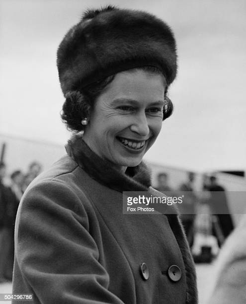 Queen Elizabeth II in Charlottetown capital of Prince Edward Island on the first day of her Canadian tour 6th October 1964