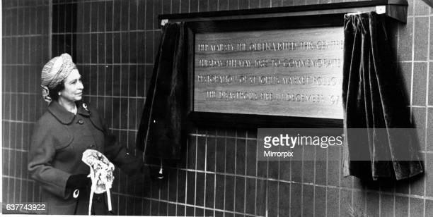 Queen Elizabeth II in Liverpool unveiling a plaque to commemorate the restoration of St Johns's Market Picture taken 4th May 1982