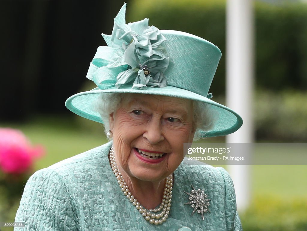 Queen Elizabeth II in the parade ring during day four of Royal Ascot at Ascot Racecourse.