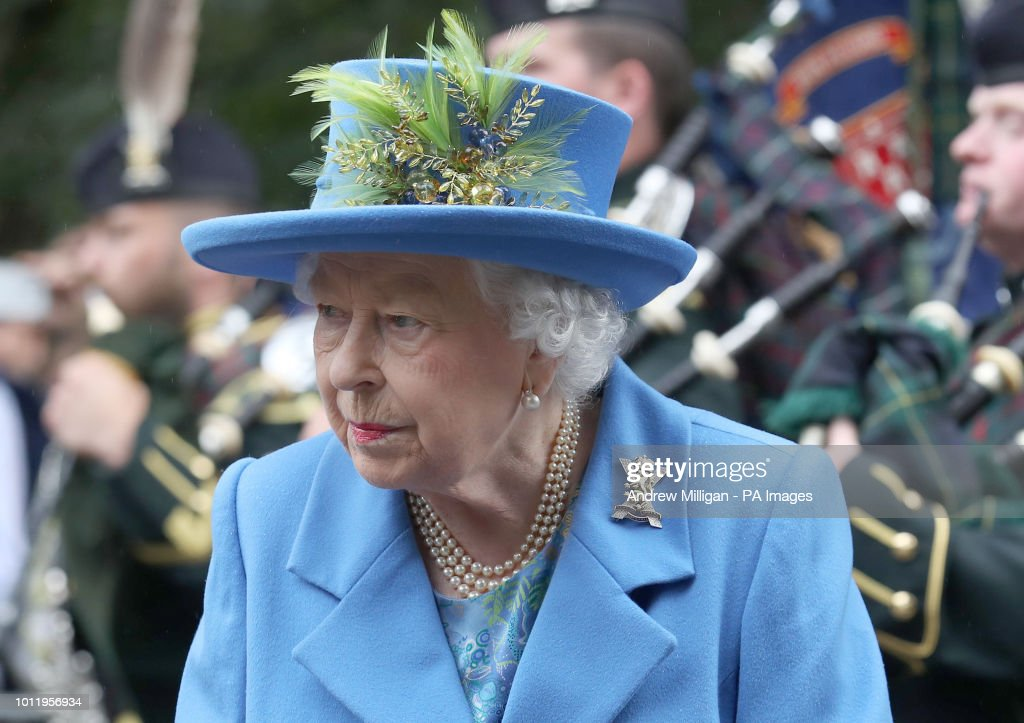 Queen summer residence at Balmoral 2018 : News Photo