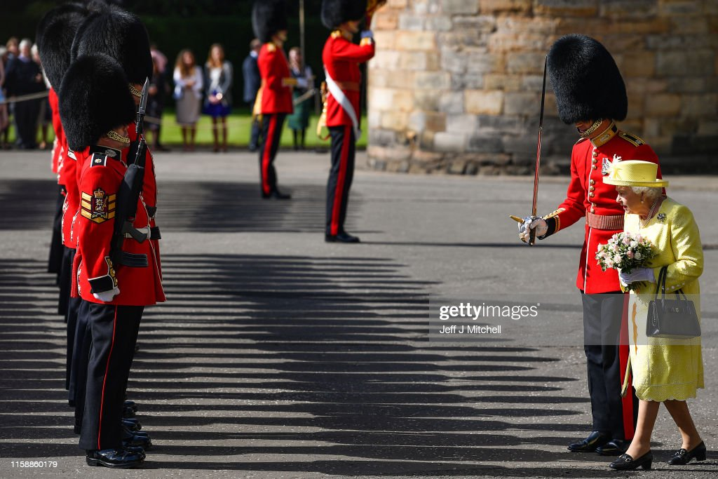 HM Queen Attends The Ceremony Of The Keys : News Photo