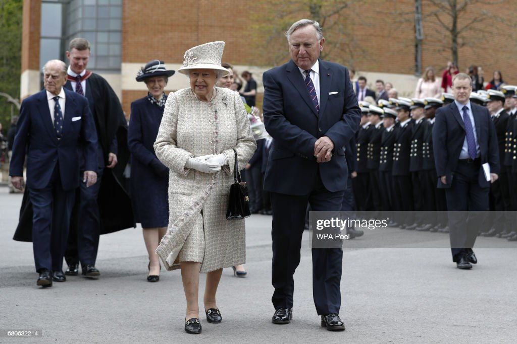 The Queen & Duke Of Edinburgh Visit Pangbourne College To Celebrate It's Centenary : News Photo