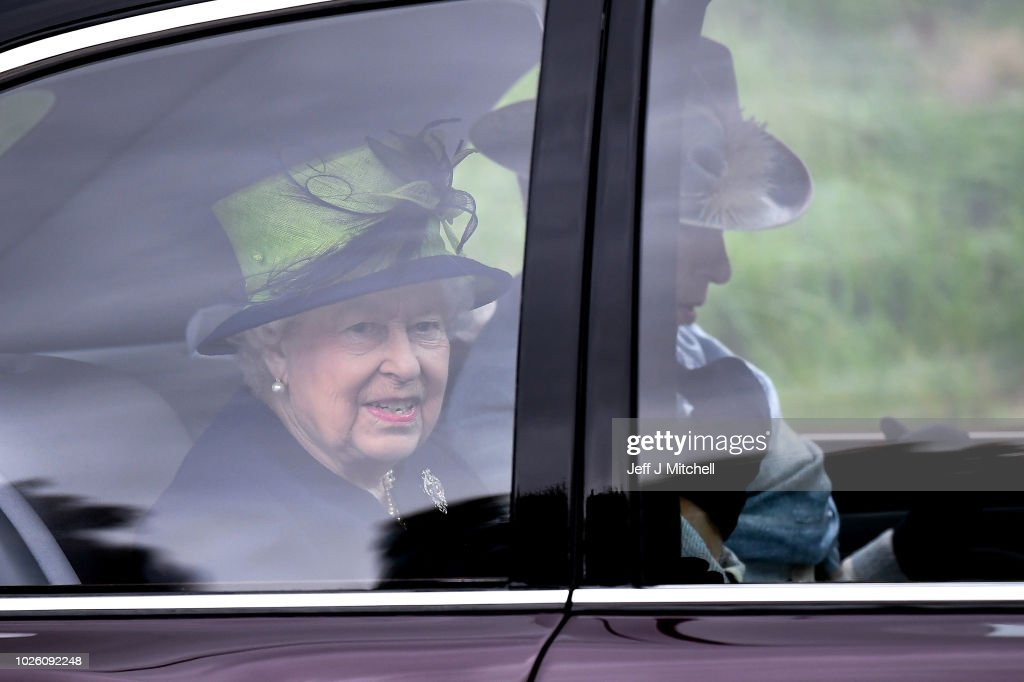 The Royal Family Attend Crathie Church : News Photo