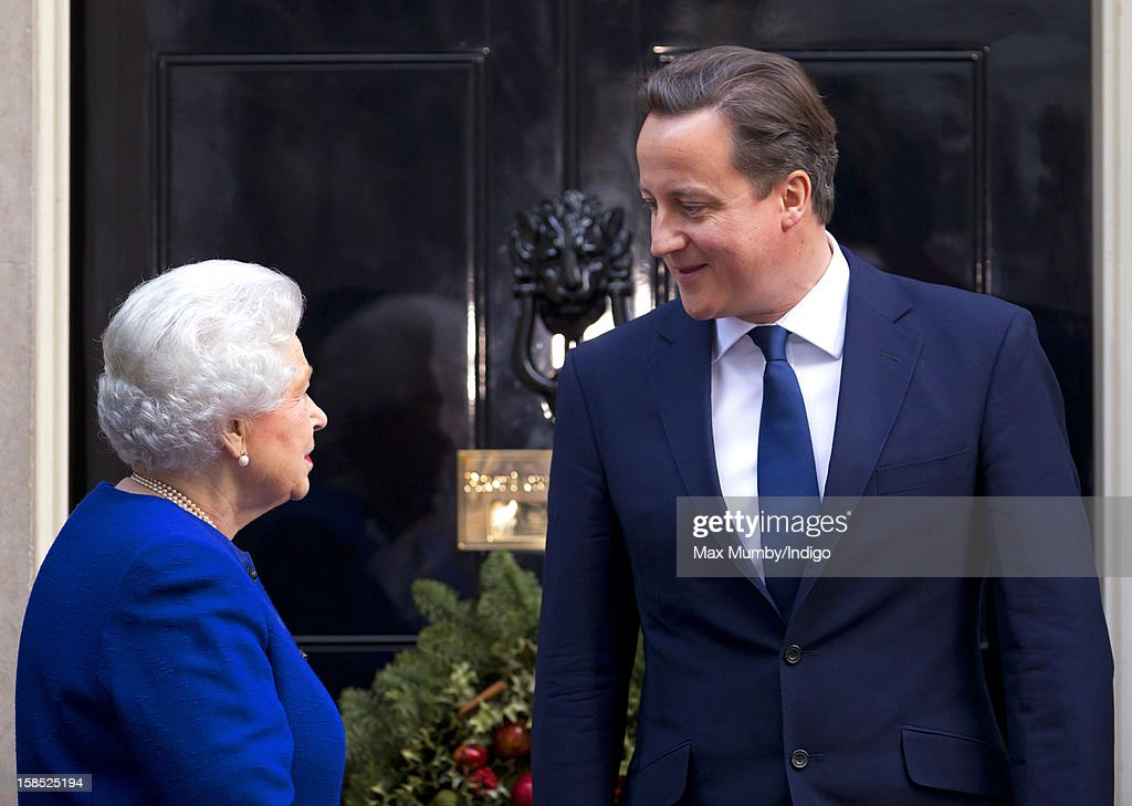 Queen Elizabeth II Attends The Government's Weekly Cabinet Meeting : News Photo