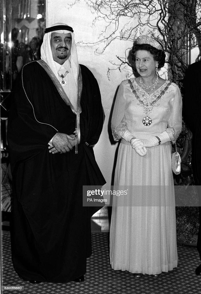 Royalty - King Fahd of Saudia Arabia Visit to Britain - London : News Photo