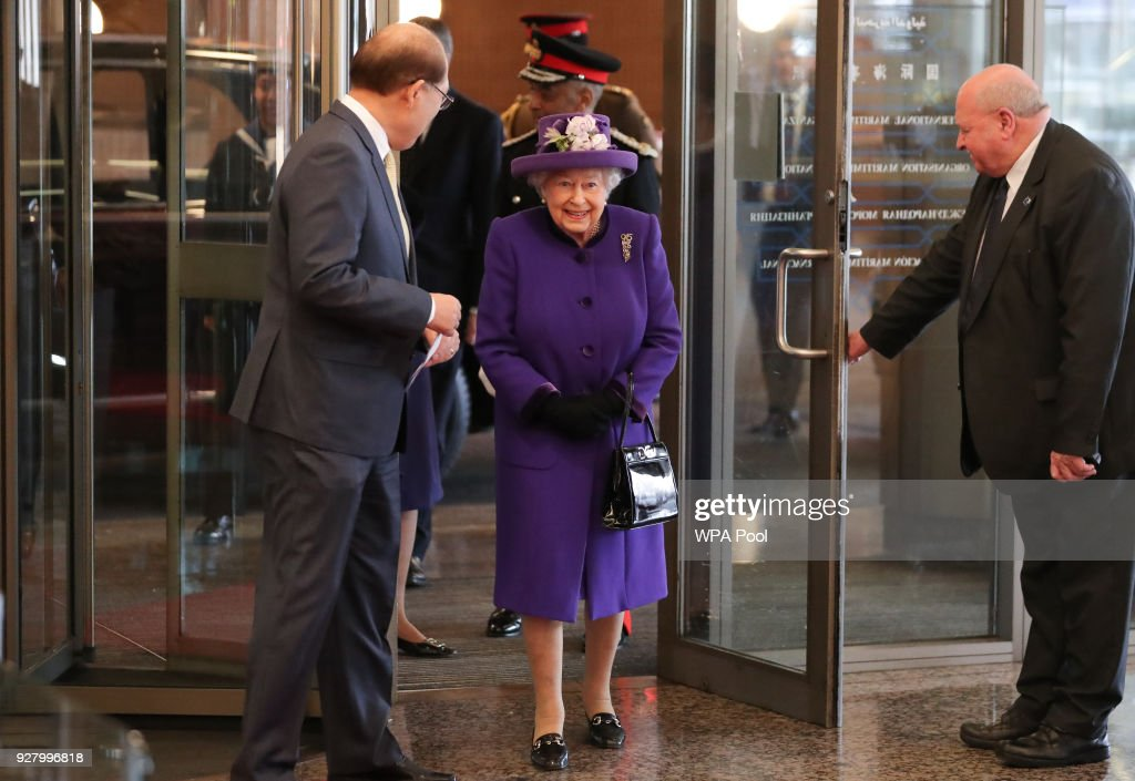 Her Majesty The Queen Visits The International Maritime Organization : News Photo