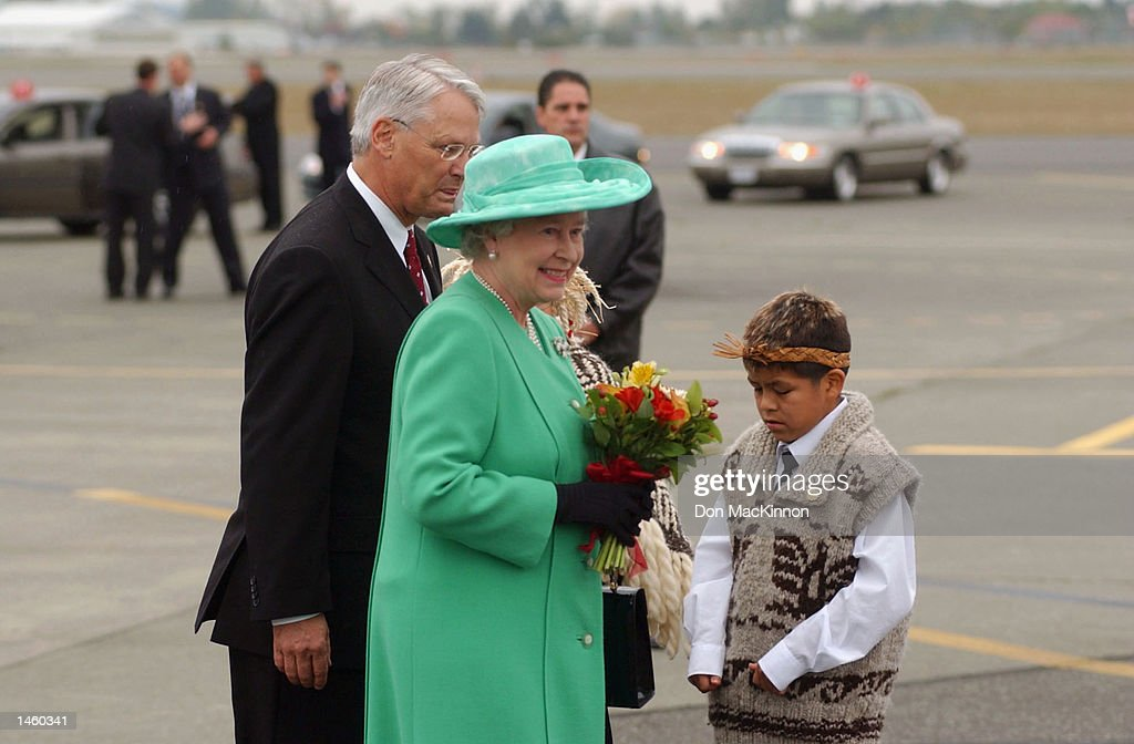Queen Elizabeth Arrives In Canada : News Photo