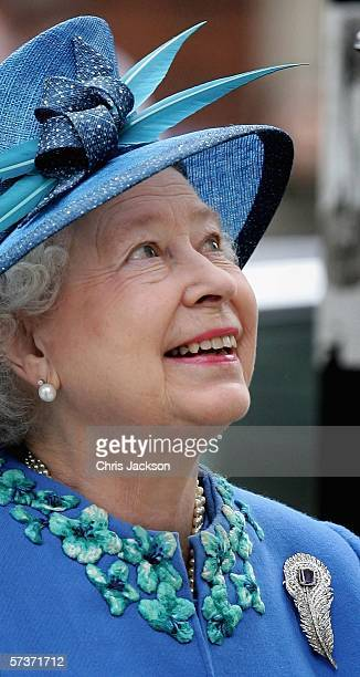 Queen Elizabeth II is seen as she visits BBC Broadcasting House to mark the anniversary of the granting of the Corporation's Royal Charter ahead of...