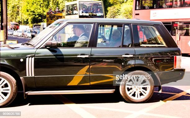 Queen Elizabeth II is seen outside Buckingham Palace on May 17 2018 in London England