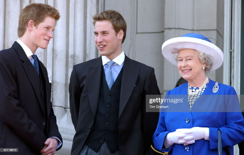Prince William And Harry And Queen : News Photo
